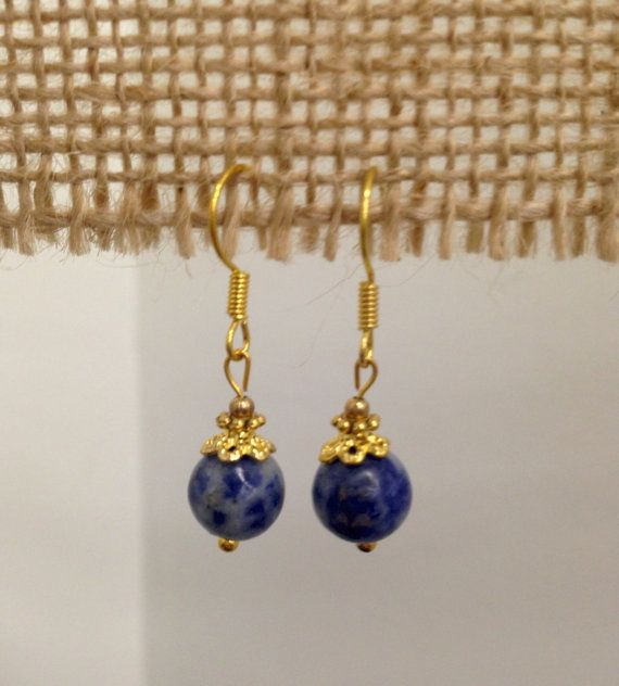 SALE  Sodalite Drop Earrings by SCBoutique123 on Etsy