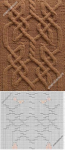 кельтский узор спицами | каталог вязаных спицами узоров