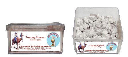 Greek Orthodox Handmade Incense - Tuareg Flower. Plastic box of 30gr.