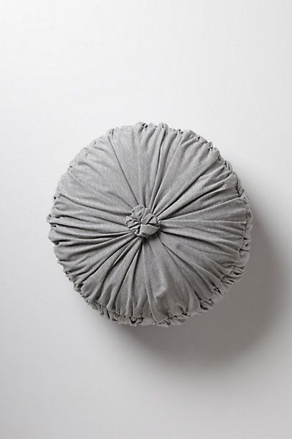 Awe this grey pillow is so cute / Rosette Round Pillow   #anthropologie