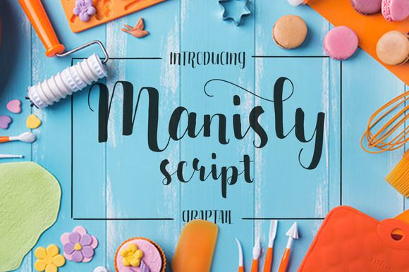 Manisly Script by Graptail on @creativemarket