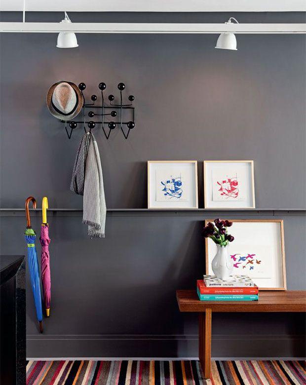 grey wall + eames hang it all #decor #eames #wall