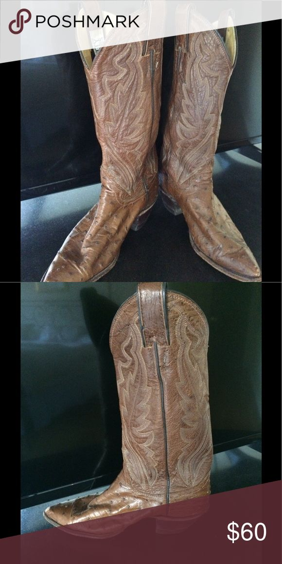 Billy Martin Ostrich Cowboy Boot Women's Size 7 Billy Martin Ostrich Cowboy Boot.  Very Good Condition.  retail $895 Shoes