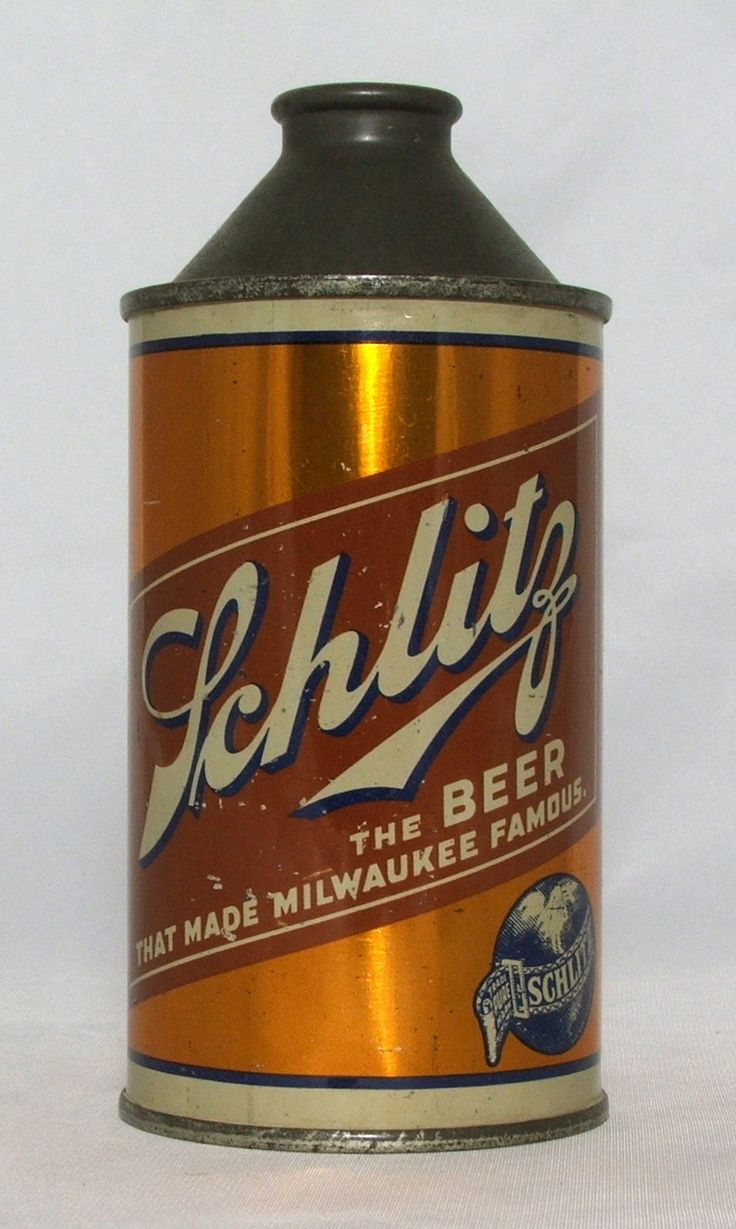 Schlitz Beer 12 oz Cone Top Beer Can Milwaukee Wi | eBay