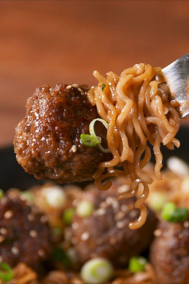 Mongolian Meatballs Elevate Instant Ramen To Baller Status