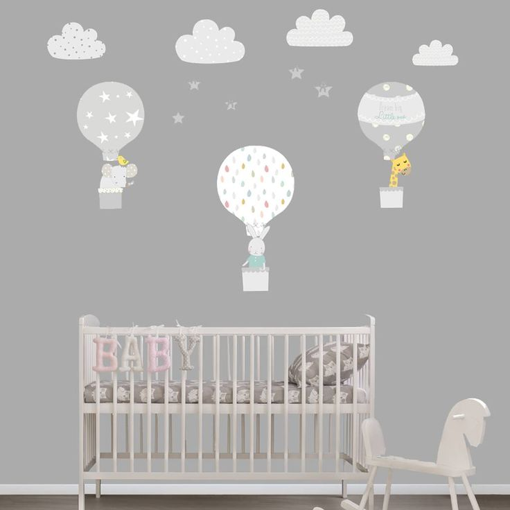 Are you interested in our grey balloon wall stickers? With our fabric wall stickers nursery you need look no further.