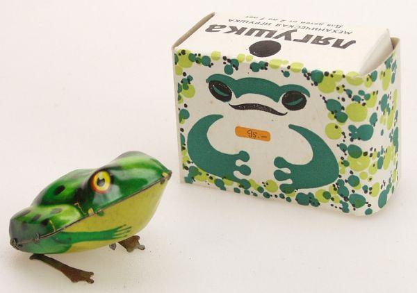 Tin jumping frog, Лягушка. Игрушки СССР - http://samoe-vazhnoe.blogspot.ru
