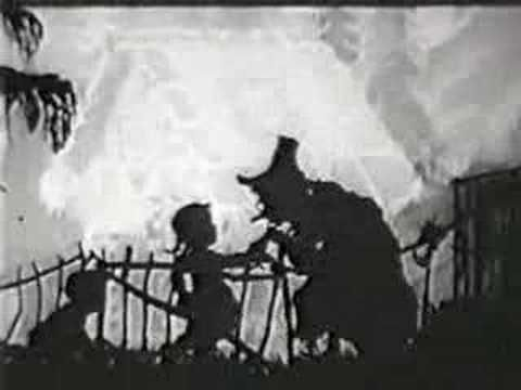▶ Lotte Reiniger - Hansel and Gretel (1955) She was the first woman animator and used a technique with cut-paper silhouettes based on a folk art form called scheren-schnitte.