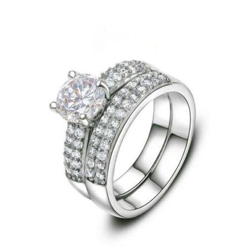 Silver-925-Unique-And-Diamond-Wedding-for-Couple-Ring-Heavy-in-center-Diamond