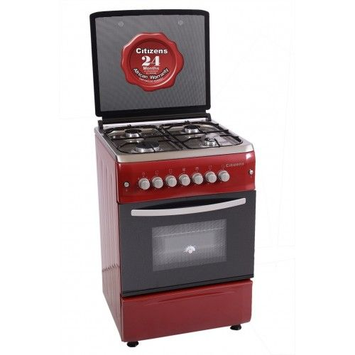 Citizens CF-6640-IROGIT 60x60 Free Standing Gas Cooker 4Gas  Ruby series