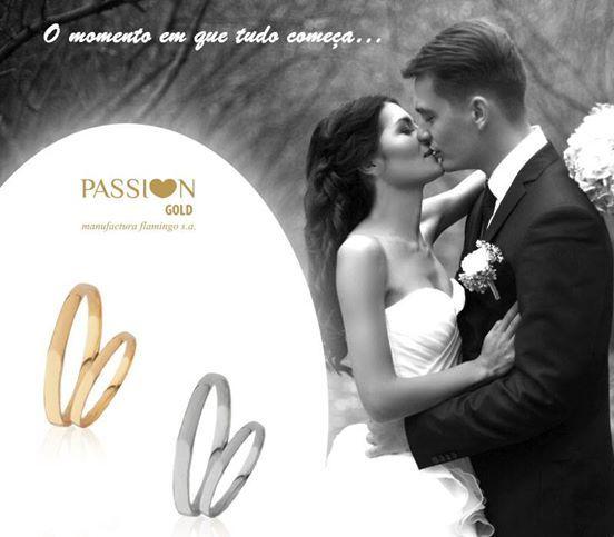 Tudo começa com a PASSI♥N GOLD!  Alianças de Casamento Passi♥n Gold