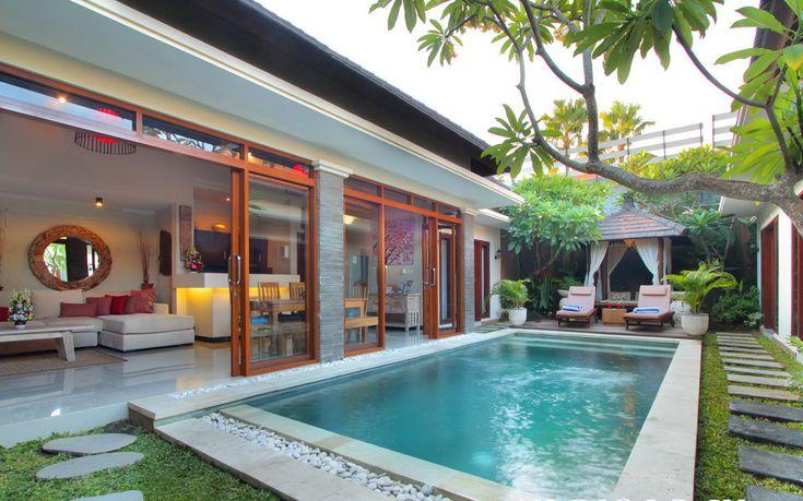 Villa ashna 3 bedroom seminyak bali exterior for Villas pequenas