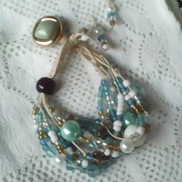 Multi-strand bracelet #handmade #beaded #thread #bracelet