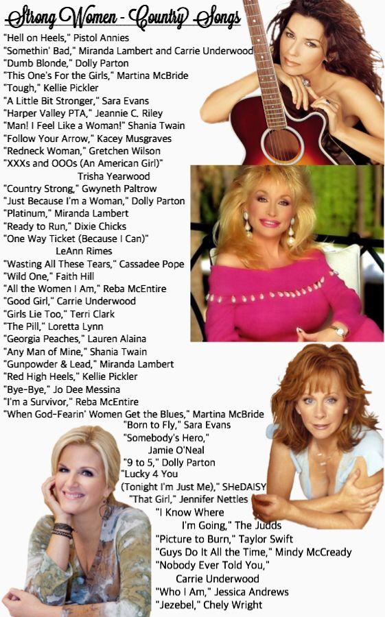 Songs for Strong Country Women (i hope i find some great dance tunes here)