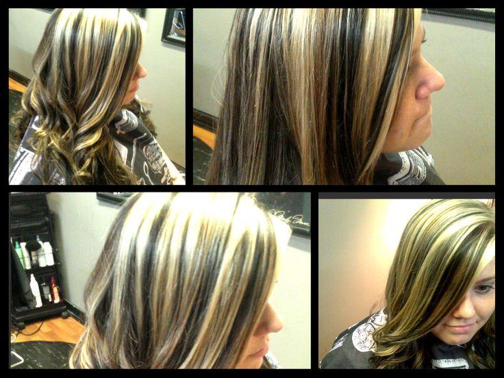 Black Caramel And Platinum Hair Color For Blondes And