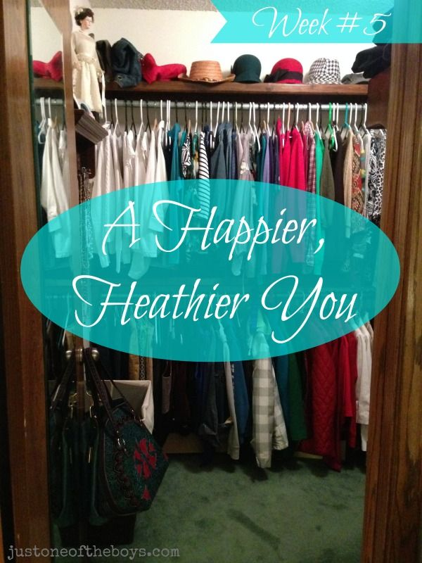 What do Pilates, shoe storage, and your favorite perfume have in common? Join us as we support and encourage each other to take better care of ourselves! A Happier Healthier You ~ Week #5