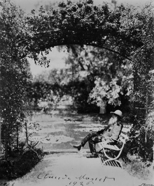weepling: Claude Monet in his garden in Giverny