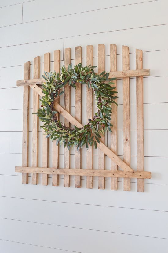 """Such an easy and budget friendly DIY! Make this super cute """"old"""" farmhouse gate!"""