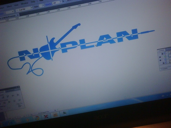 The logo for NoPlan in development. No Plan is a band with colleagues from Planon.