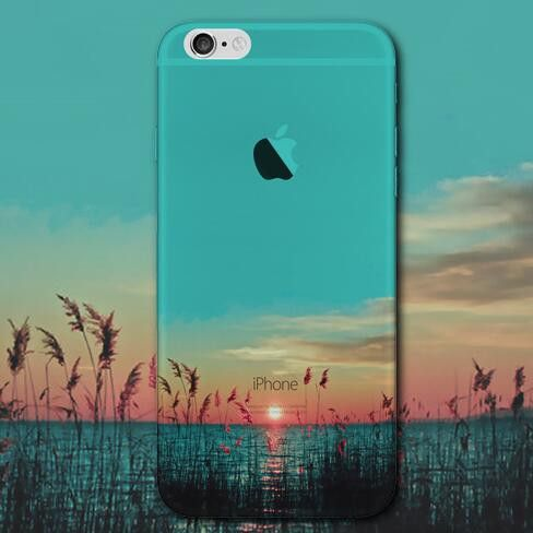 Night lake mobile phone case for iphone 5 5s SE 6 6s 6 plus 6s plus + Nice gift box 072301