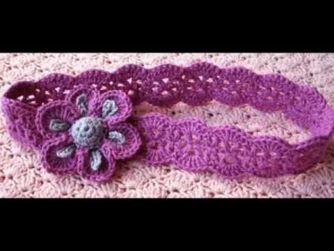 Crochet : Cintillo o Diadema - YouTube