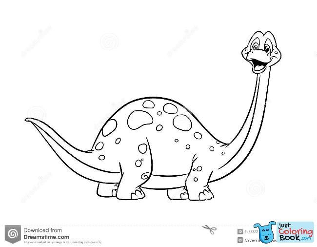 Dinosaur Diplodocus Coloring Pages Stock Illustration