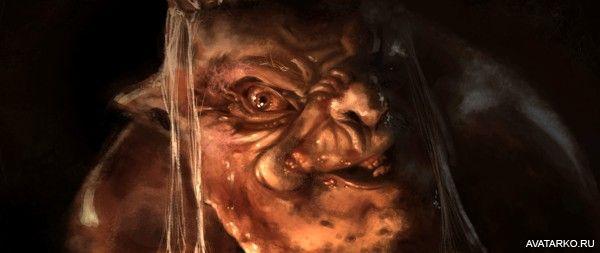 Жирный король гоблинов с радостным выражением морды - авы, аватарки, картинки