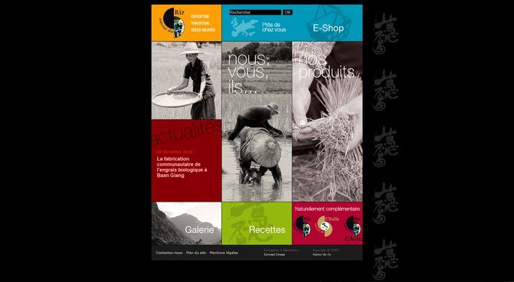 Site web vitrine et marchan d'AUTOUR DU RIZ, marchand passionné de riz - 2011