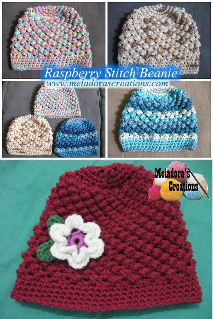 Raspberry Stitch Beanie Free Crochet Pattern Crochet