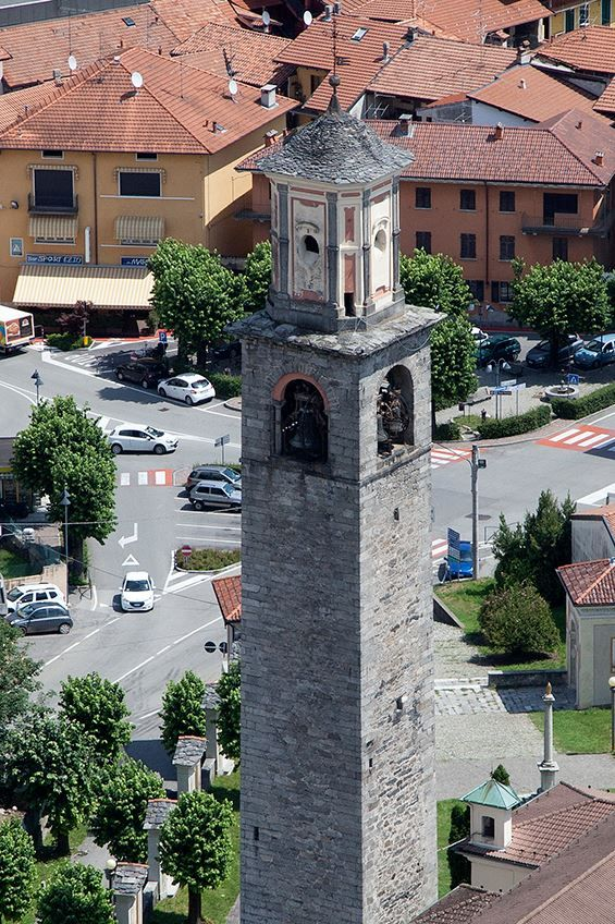 Il campanile di #Invorio dall'alto ( #Novara #Piedmont #Italy )