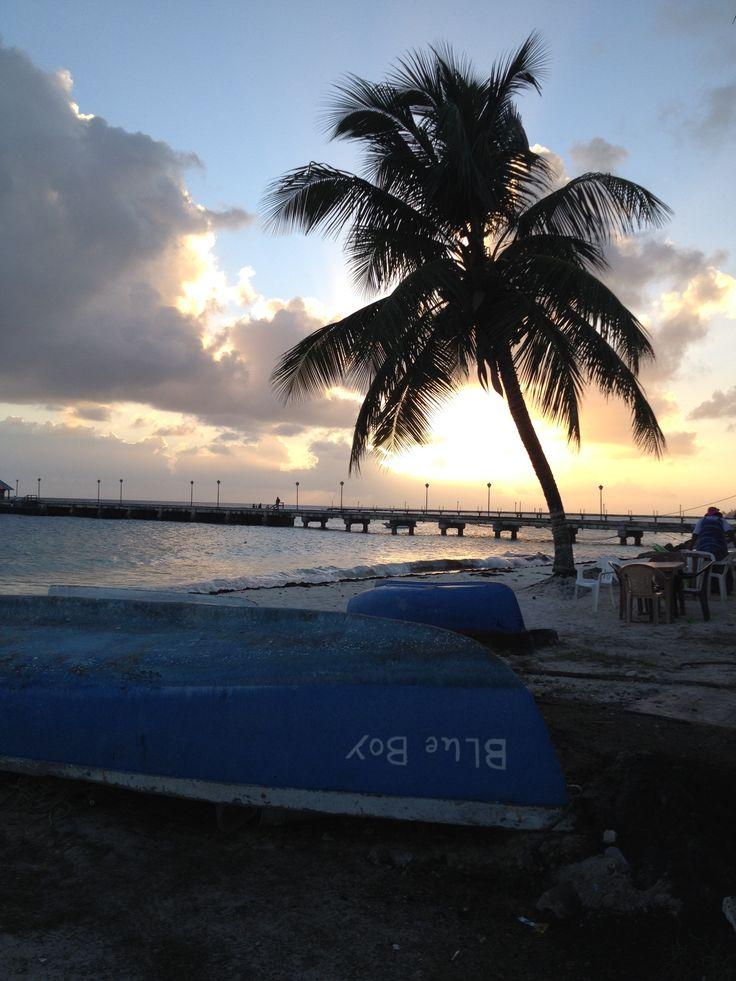 Oistens Pier at sunset