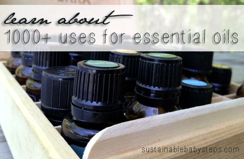 Learn 1000's of uses for essential oils, via SustainableBabySteps.com