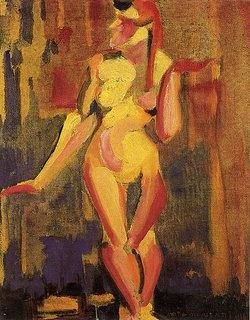Nu Cubista (1915/16), Anita Malfatti. Veja também: http://semioticas1.blogspot.com.br/2013/06/arte-entre-guerras.html