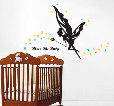 Bless This Baby Wall Decal