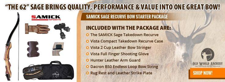 Samick Sage Takedown Recurve Bow Starter Package