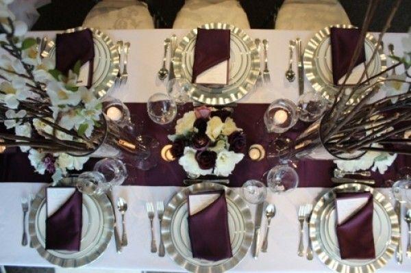 aubergine wedding color