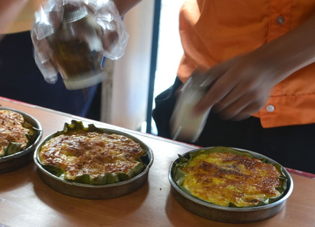 Bibingka - Top 10 Filipino Food - or our full top 10 Filipino food check here: http://live-less-ordinary.com/eating-asia/top-10-filipino-food-pinoy-food