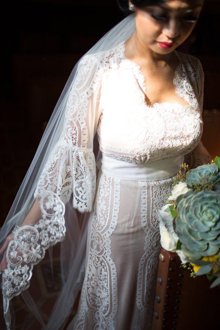 Pin for Later: Diese Hochzeitsfotos werden euch davon überzeugen im Herbst heiraten zu wollen Vorteil: Ihr müsst nicht wie bei einer Sommerhochzeit schwitzen
