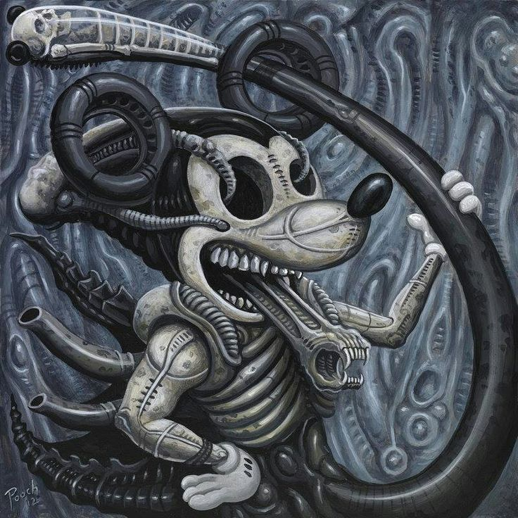 mickey alien chestburster xenomorph pinterest aliens. Black Bedroom Furniture Sets. Home Design Ideas