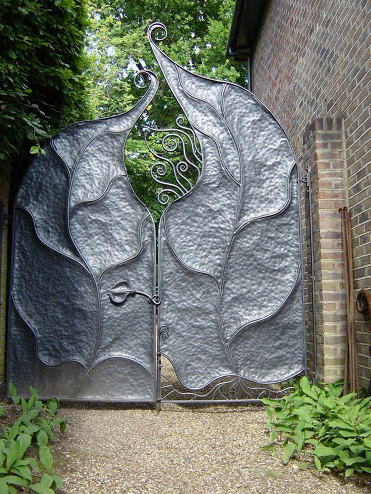 Handmade Gates inspired by Gaudi, nature| and fantasy. Metalwork functional art design