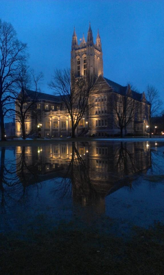 Gasson Hall by early morning light