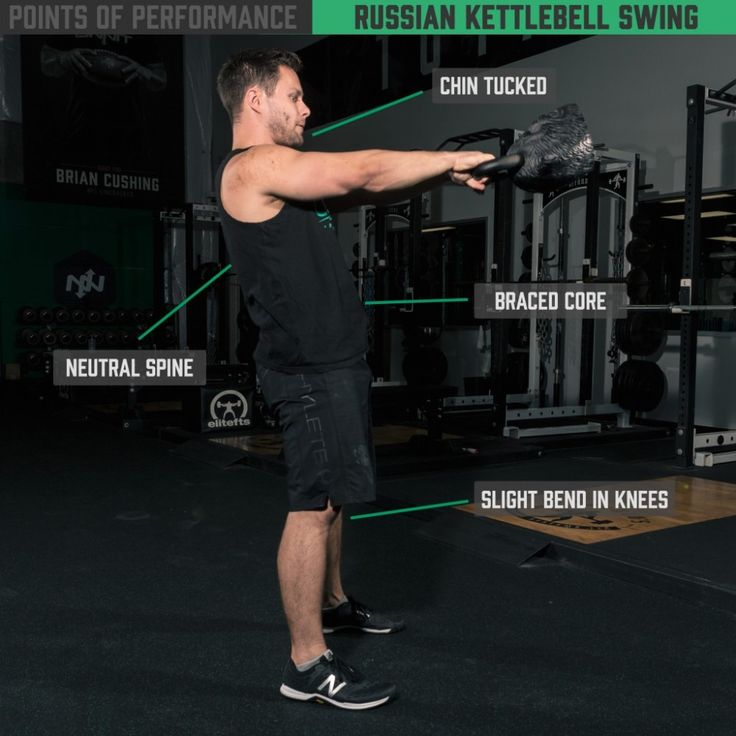 The Russian Kettlebell Swing is a great modality to teach athletes how to break at the abs, lats and glutes while using their bodies in a more efficient manner. #ONNITAcademy #GetONNIT #Fitspo #Howto #Fitness #Kettlebells