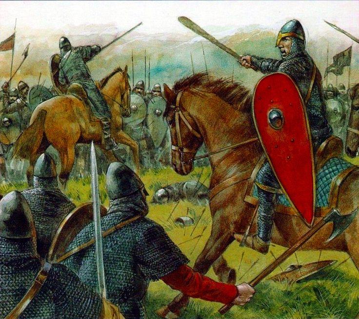 1066 r. Bitwa pod Hastings, wygrana przez księcia Wilhelma. Podbój Anglii i  wygrana w tej bitwie dała mu  przydomek Zwycięski.