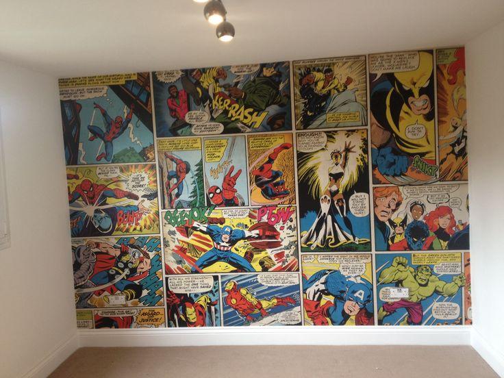 Marvel comic wallpaper, Ronnie's bedroom <3                                                                                                                                                                                 More