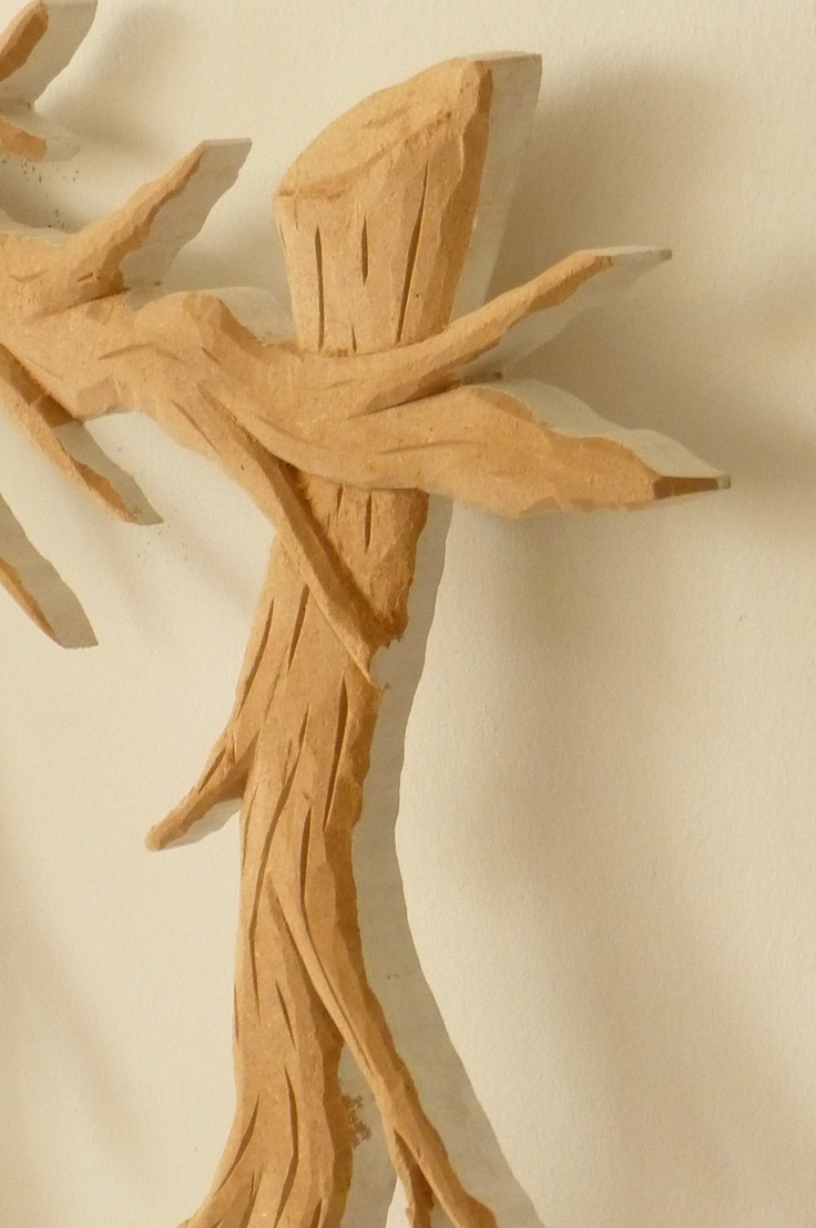 Fine details of Hand Carving on the Branches New Wall Mirror from FunkyMirrors.
