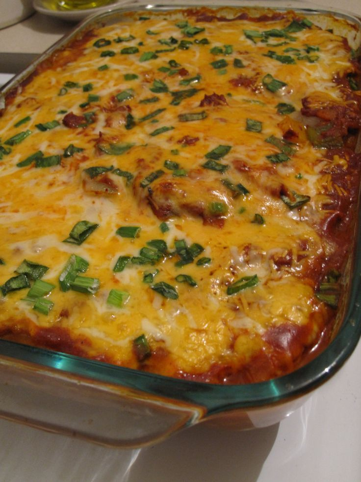 No tortilla chicken enchiladas Chicken: www.zayconfoods.c...
