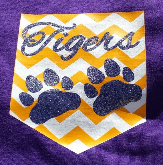 Louisiana Chevron Pocket TShirt LSU chevron pocket by CuttinUp2, $24.95