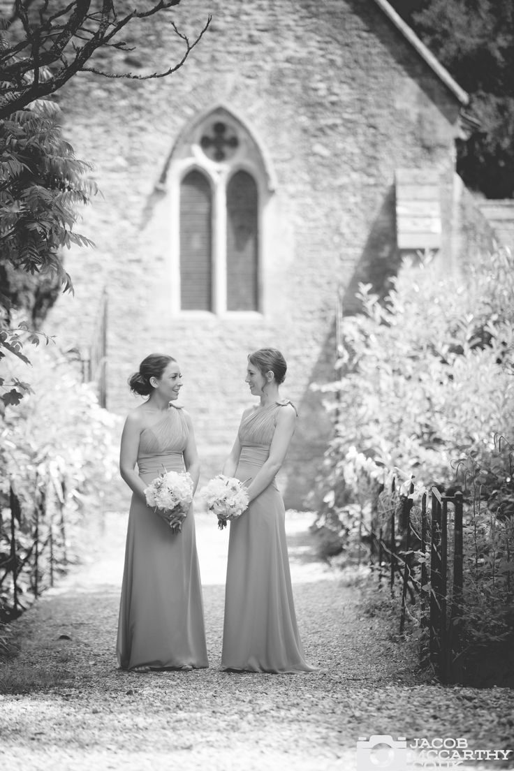 Lovely bridesmaids at Orchardleigh House. Fashion inspired wedding photography by Jacob McCarthy. See more work at www.jacobmccarthy.co.uk