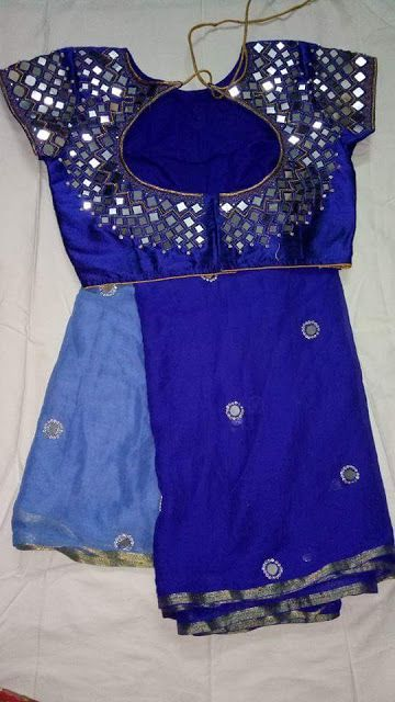 Beautiful Designer sarees With Mirror Work Blouse | Buy Designer Sarees…