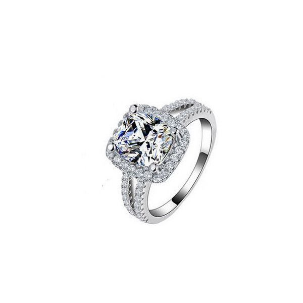 20 Liked On Polyvore Featuring Jewelry Rings Cubic Zirconia Wedding Diamond Engagement Fake Sterling Silver